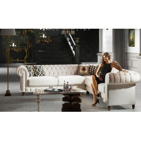 Chesterfield Ecksofa Castello