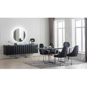 Silberne Esszimmer Möbel...