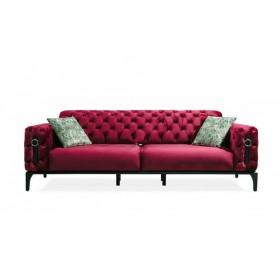 3 Sitzer Sofa in Rot Clas