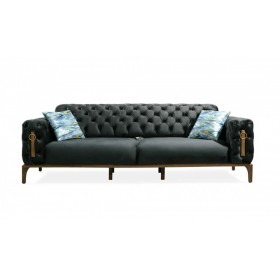 3 Sitzer Sofa in Grau Clas