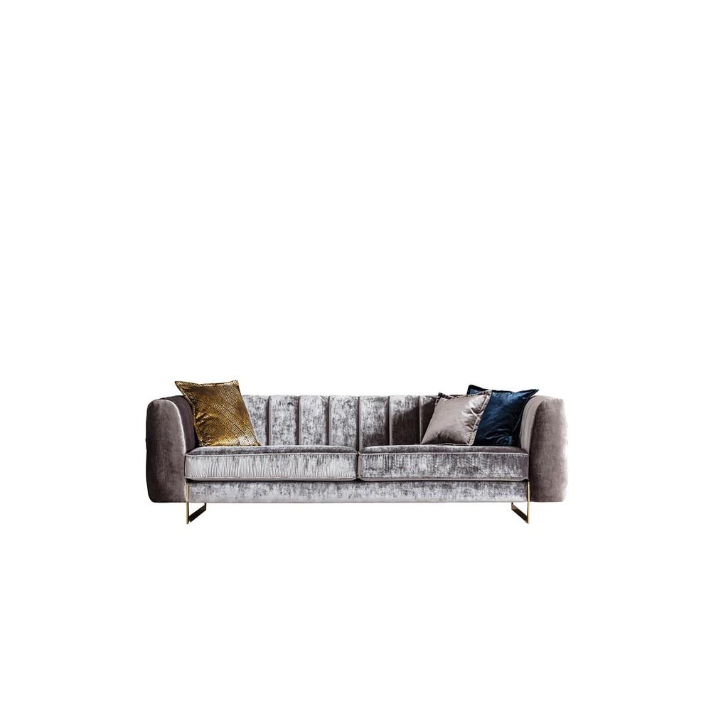 Hochwertige Sofa Samt Mit Goldbeinen Neu Im Trend **bei