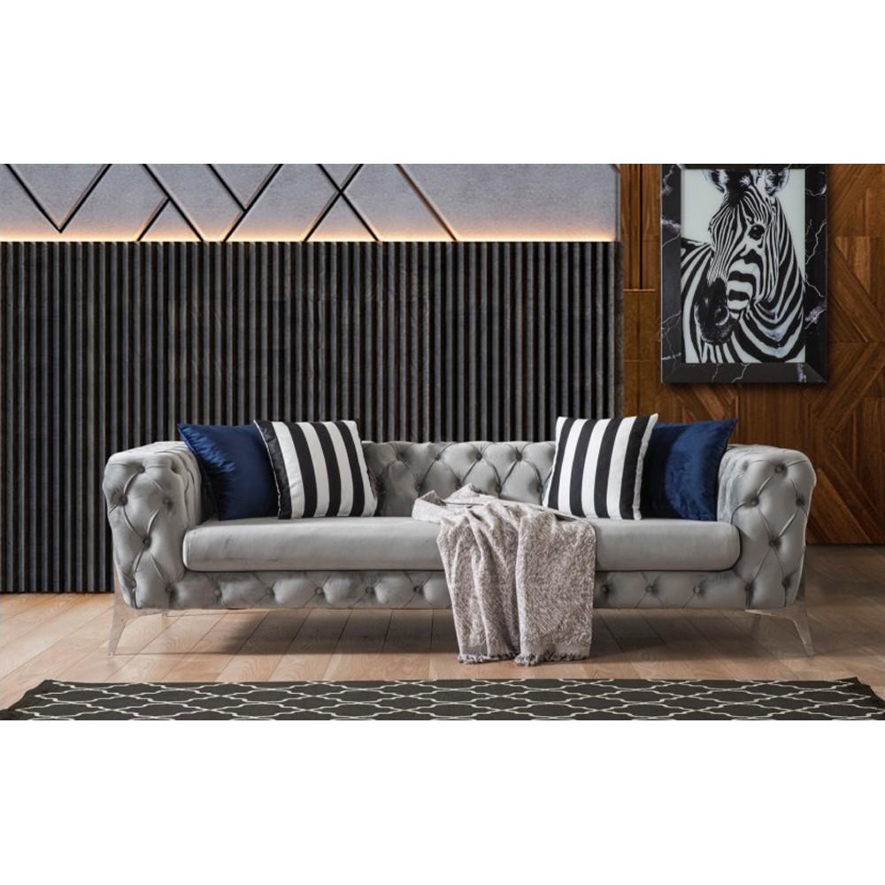 Sofa Abanoz Silber